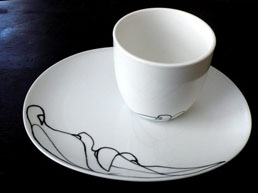 Shhh Series Cup and Saucer Set by Bailey Doesn\'t Bark