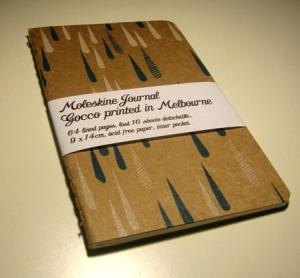Gocco printed Moleskine by Lara Cameron