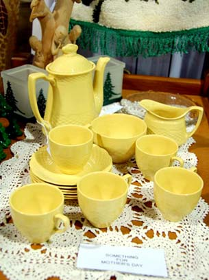 Tea set at the Mill Warehouse markets
