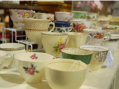 Teacups at the Mill Warehouse market