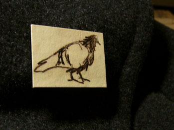 Pigeon brooch by Brid Bird