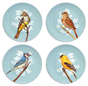 Melamine bird plates by Pop Ink at French Paper