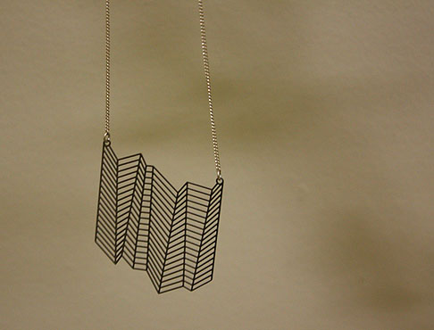 Bent Flat necklace by Thomas Seymour